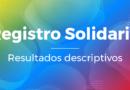 Registro Solidario – Resultados descriptivos